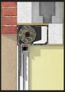 Ściana trójwastwowa.Roleta z zabudową od wewnątrz.