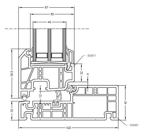 Rehau nordic design okna stolarka pcv profile for Section window design